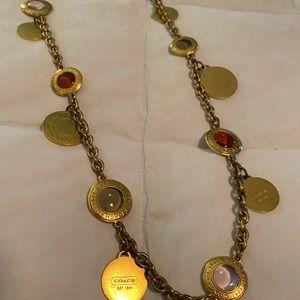 Gold Coach Multi-Colored Stone Necklace